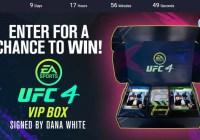 Autographed EA SPORTS UFC 4 VIP Box Giveaway