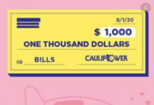 CAULIPOWER Pays Your August Bills Sweepstakes
