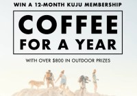 Kuju Coffee For A Year Giveaway
