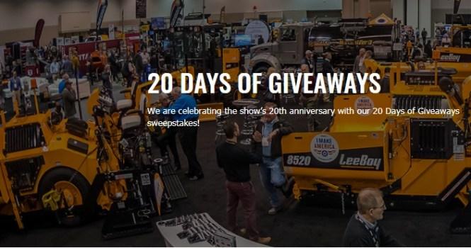 Association Of Equipment Manufacturers World Of Asphalt 20 Days Of Giveaway