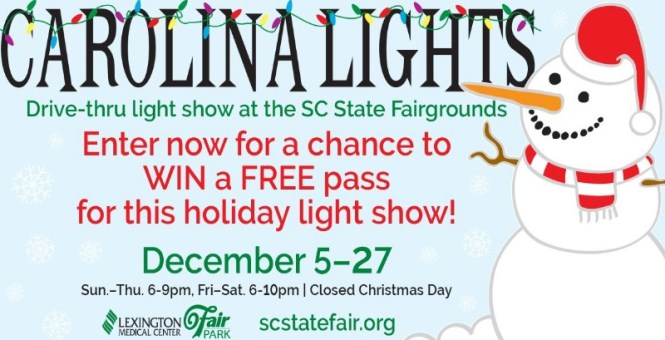 ABC Columbia Carolina Lights Drive Giveaway