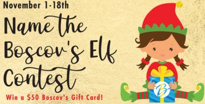 Boscov Name The Elf Giveaway