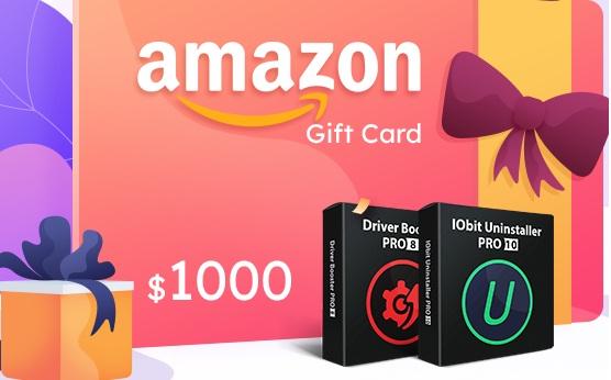 Iobit $1,000 Amazon Gift Card Giveaway