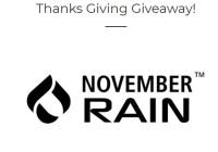 November Rain Thanks Giving Giveaway - Win A November Rain Poncho