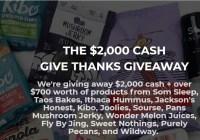 Som Friends, Som Sleep $2k Give Thanks Giveaway