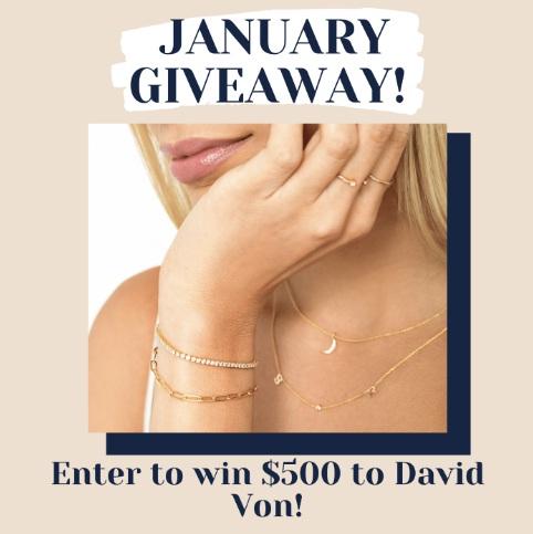 David Von $500 Monthly Giveaway