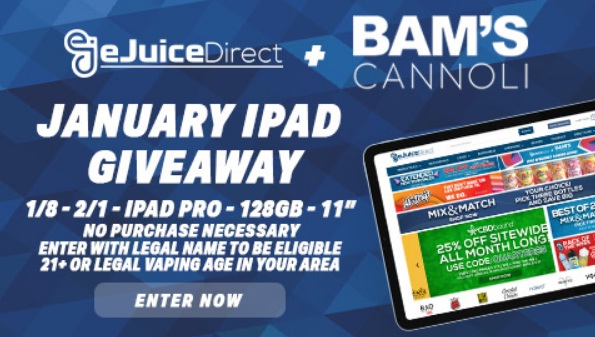 EJuice Direct Apple IPad Pro Giveaway