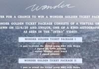 Island Records Wonder Golden Ticket Sweepstakes