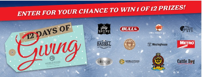 MMA Creative World Food Championships 12 Days Of Giving Sweepstakes