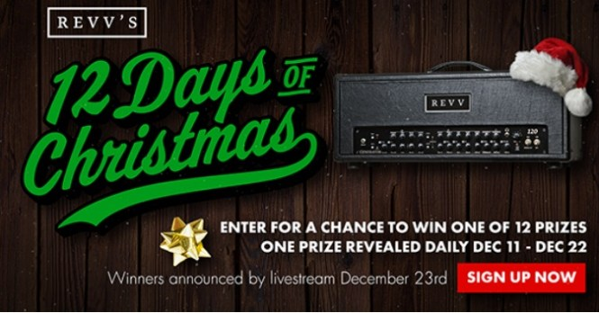 Revv Amps 12 Days Of Christmas Sweepstakes