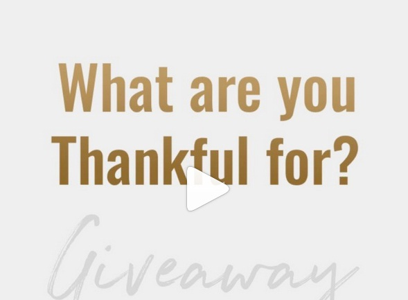 What Are You Thankful For Giveaway