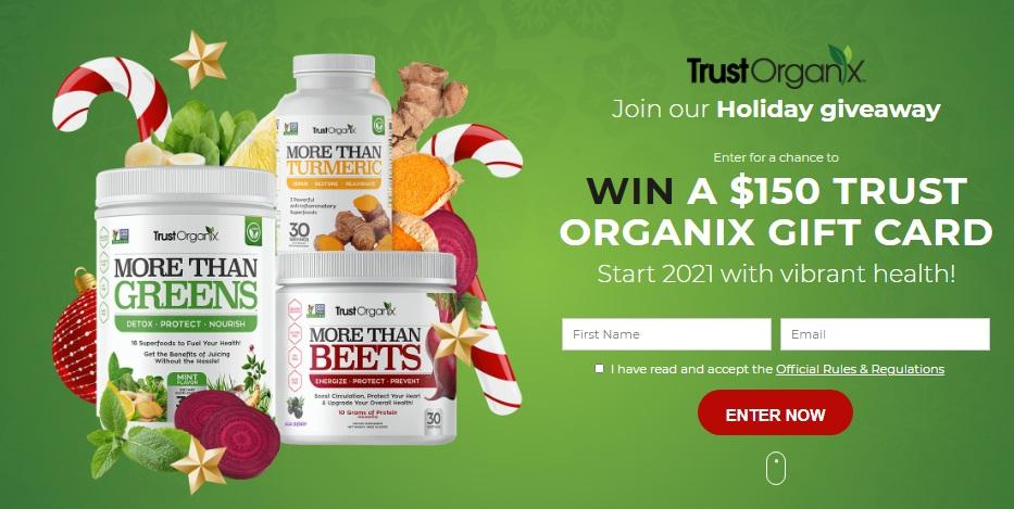 Trust Organix Trust Organix Holiday Giveaway