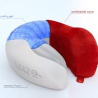 Enzo Travel Pillow Memory Foam Cooling Gel Neck Pillow ...