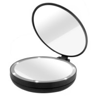 Lighted Travel Makeup Mirror 5x | Fay Blog