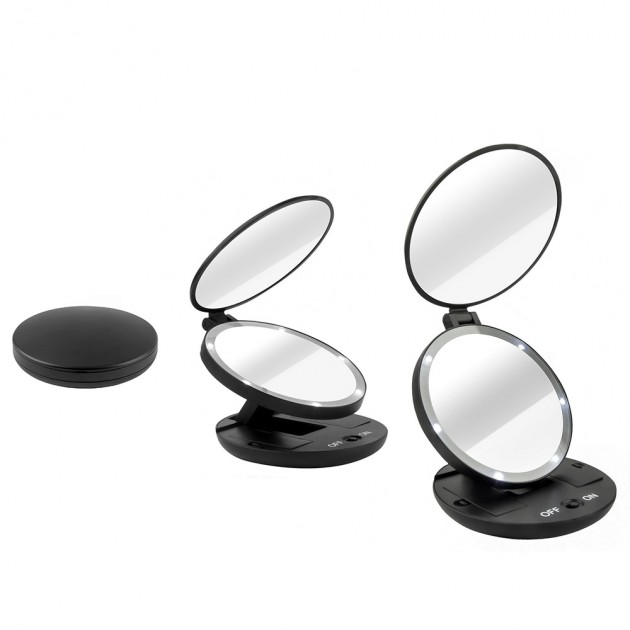 Doublesided 1x  5x Magnifying Travel Makeup Mirror With