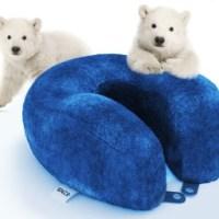 Travel Pillow Memory Foam Cooling Gel Neck Pillow ...