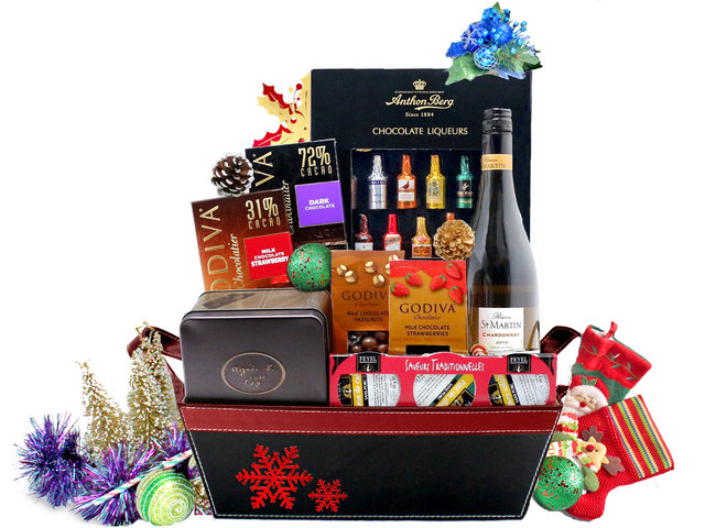 Christmas Gift Hamper - Christmas Gift Hamper 5 - L76600557b - Give Gift Boutique Flower Shop