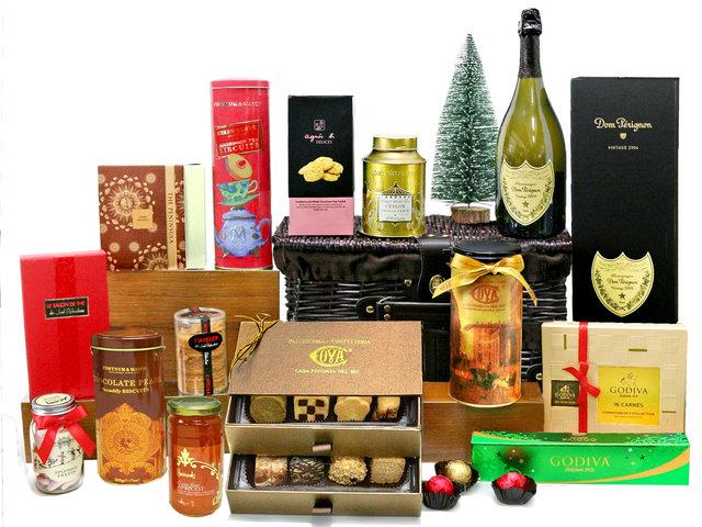 Christmas Gift Hamper - Christmas Hamper M25 - L76603962 - Give Gift Boutique Flower Shop