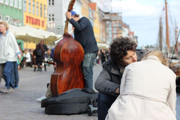 The art of love in Copenhagen, Denmark.
