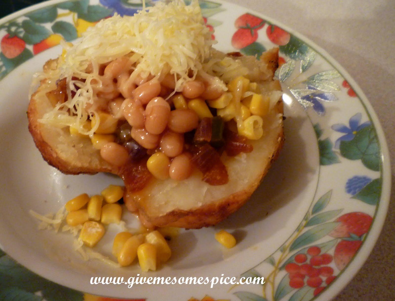 Jacket Potatoes With A Bit Of Desi Jhatka Authentic Vegetarian