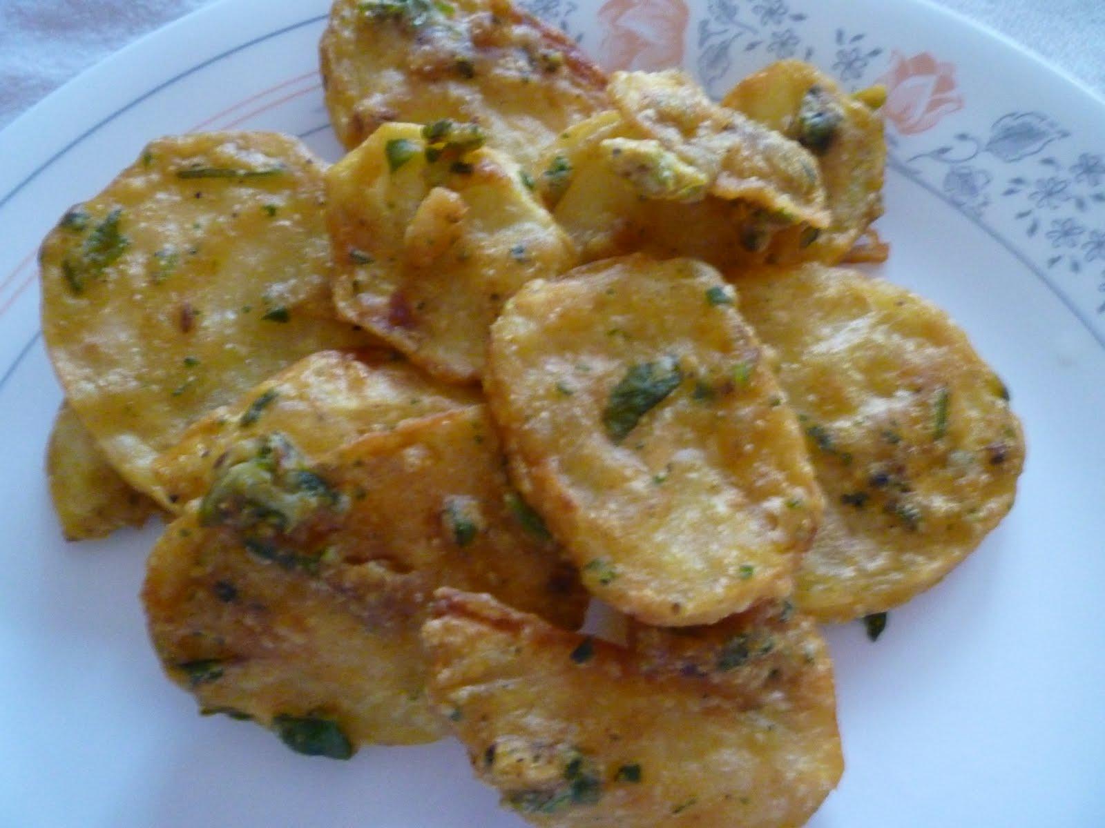 Crispy Potato Bhajia often referred to as Maru's Bhajia ...