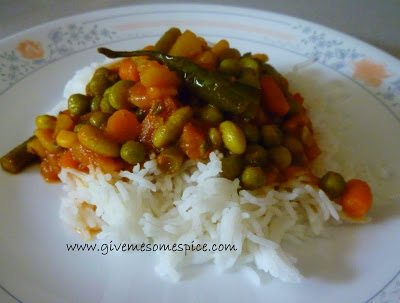 mixed veg and potato