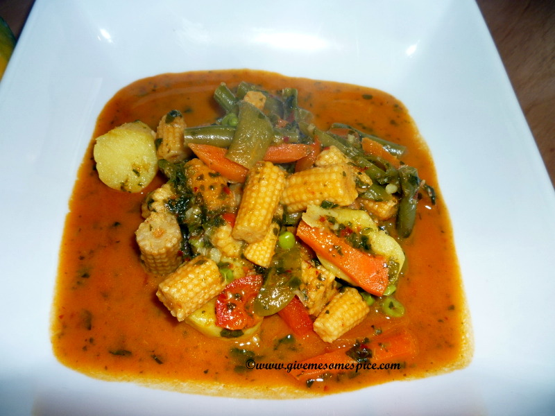 Red Thai Curry With Mixed Vegetables Authentic Vegetarian