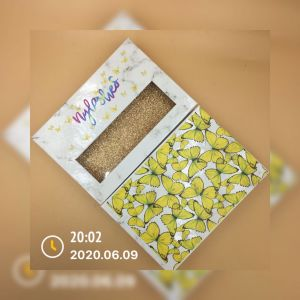 yellow butterflies lash packaging vendor