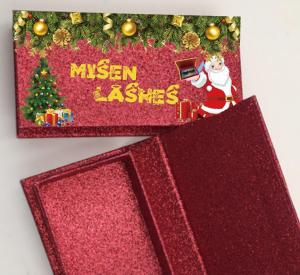 custom Christmas eyelash packaging