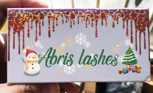 customize your own Christmas eyelash box