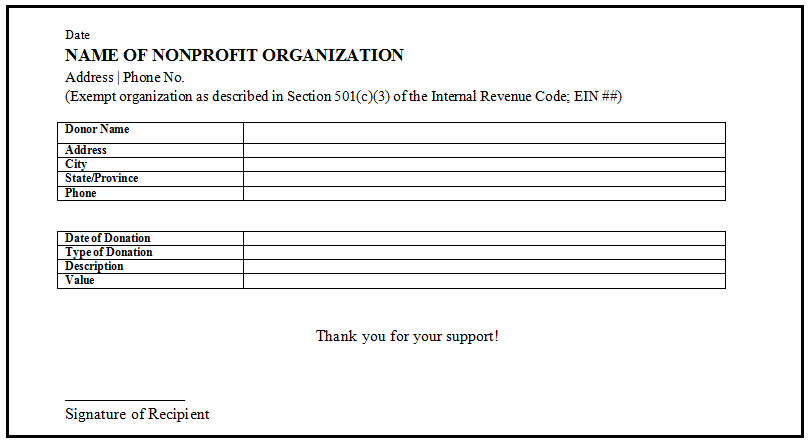 34 elegant donation letter sample for non profit organization. Why It Is Vital To Have A Donation Receipt Letter For Tax Purposes Givingloop Blog