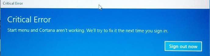 critical-error-screenshot-start-menu-cortana-windows-10