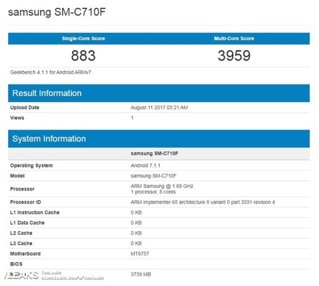 samsunggalaxyc7visitsgeekbenchwithheliop20soc 12 1502541322 Samsung Galaxy C7 visits Geekbench with Helio P20 SoC