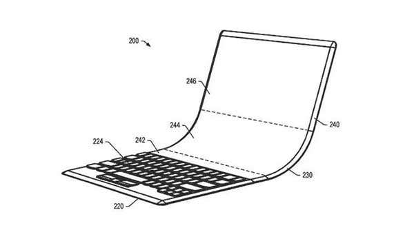 Lenovo patents for a foldable display laptop with OLED
