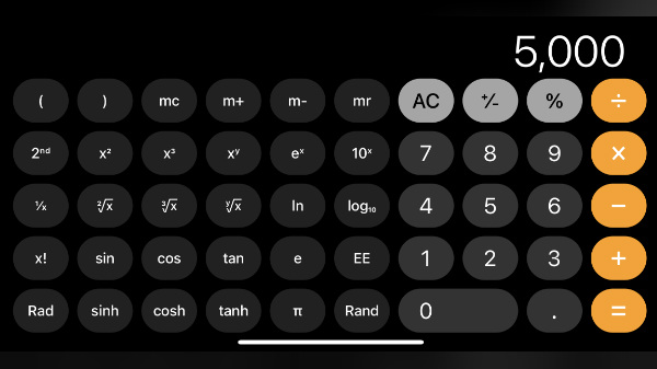 How To Enable Hidden Scientific Calculator On iPhones
