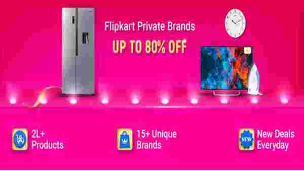 Up To 80% Off On Flipkart Private Brands