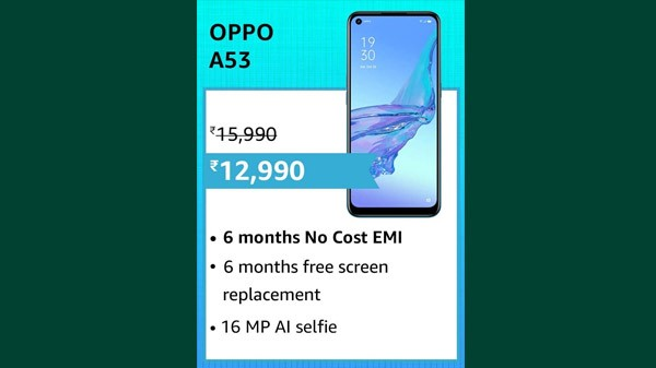 19% Off On Oppo A53
