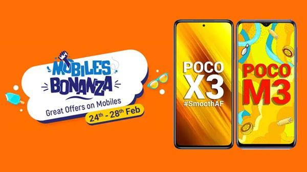 Flipkart Mobiles Bonanza Offers On POCO M3, POCO M2 And More