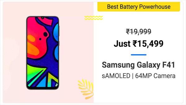 20% Off On Samsung Galaxy F41
