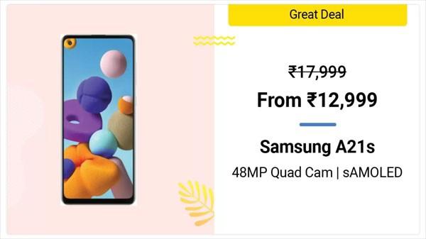 22% Off On Samsung Galaxy A21s