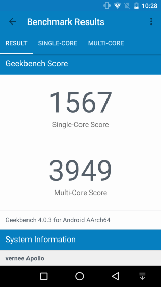 Vernee Apollo Geekbench