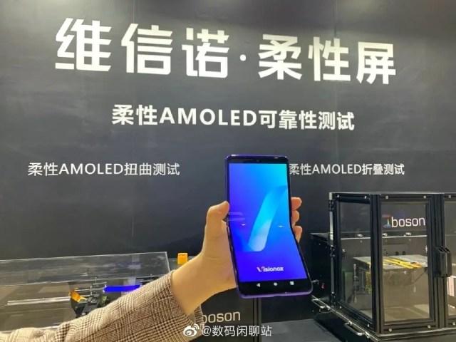 Visionox foldable phone prototype