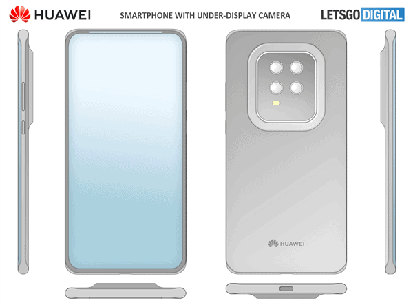 Huawei under-screen camera
