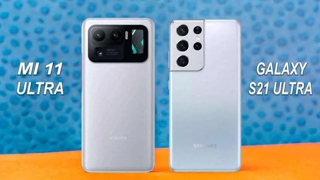 Samsung Galaxy S21 Ultra Vs Xiaomi Mi 11 Ultra