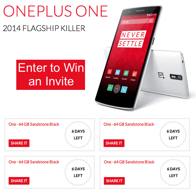 Giveaway: Win 1 of 7 OnePlus One Invites