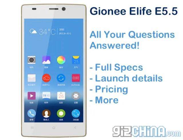 gionee elife e5.5 full details