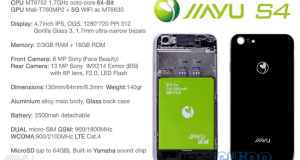 jiayu s4 specifications