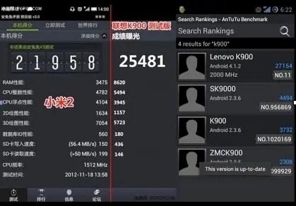 lenovo k900 benchmarks