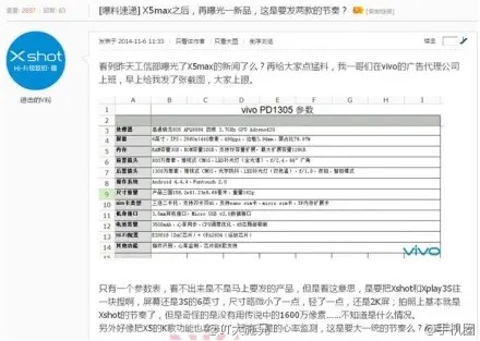 vivo xplay 2014 leaked