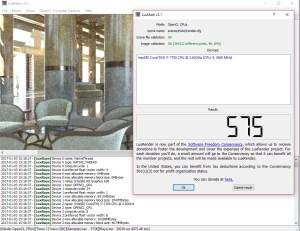 Luxmark 3.1, Hotel, solo CPU
